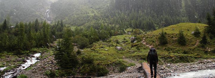 Beginn des Anstieges zur Memminger Hütte