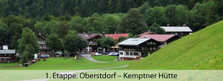 1 Etappe Oberstdorf – Kemptner Hütte