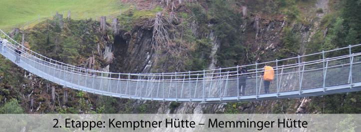 2 Etappe Kemptner Hütte – Memminger Hütte
