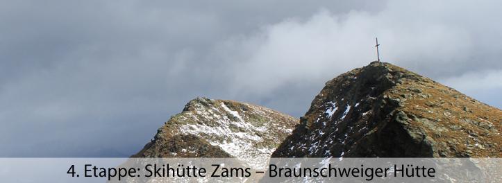 4 Etappe Skihütte Zams – Braunschweiger Hütte