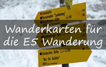 Wanderkarten E5